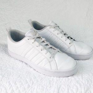 Adidas Classic white on white sneaker